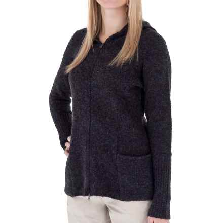 Royal Robbins Napa Boucle Hoodie Sweater - Zip Front (For Women) in Charcoal - Closeouts