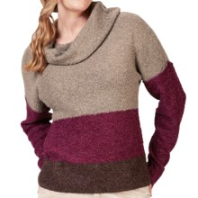 Royal Robbins Napa Boucle Sweater - Cowl Neck (For Women) in Dark Cranberry - Closeouts