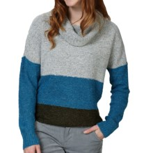 Royal Robbins Napa Boucle Sweater - Cowl Neck (For Women) in Light Glacier Blue - Closeouts