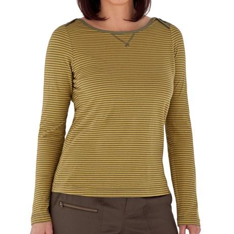 Royal Robbins Nellie Crew Shirt - Organic Cotton, Long Sleeve (For Women) in Aloe