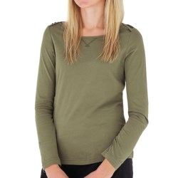 Royal Robbins Nellie Shirt - Organic Jersey, Crew Neck, Long Sleeve (For Women) in Husk