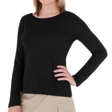 Royal Robbins Nellie Shirt - Organic Jersey, Crew Neck, Long Sleeve (For Women) in Jet Black - Closeouts