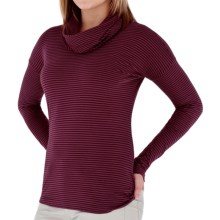 Royal Robbins Nellie Stripe Shirt - Organic Jersey, Cowl Neck, Long Sleeve (For Women) in Beet - Closeouts