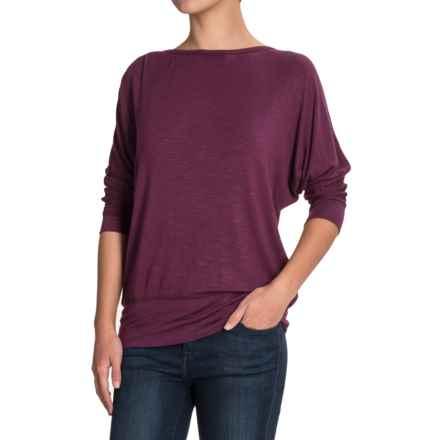 Royal Robbins Noe Dolman Shirt - Modal, 3/4 Sleeve (For Women) in Plum Wine - Closeouts
