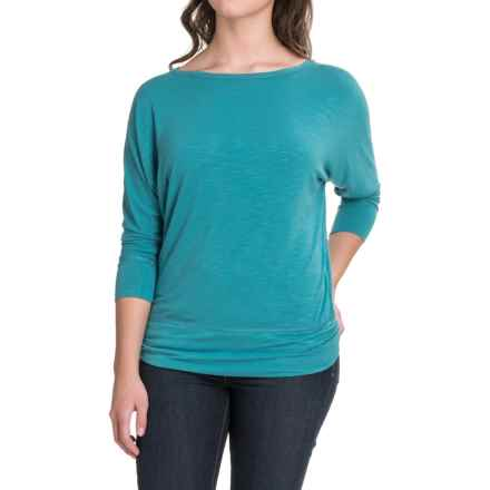 Royal Robbins Noe Dolman Shirt - Modal, 3/4 Sleeve (For Women) in Reservoir - Closeouts