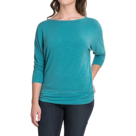 Royal Robbins Noe Dolman Shirt - Modal, 3/4 Sleeve (For Women) in Reservoir