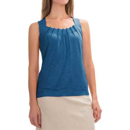 Royal Robbins Noe Pleated Tank Top - UPF 25+, Micromodal® (For Women) in Dark Lapis - Closeouts
