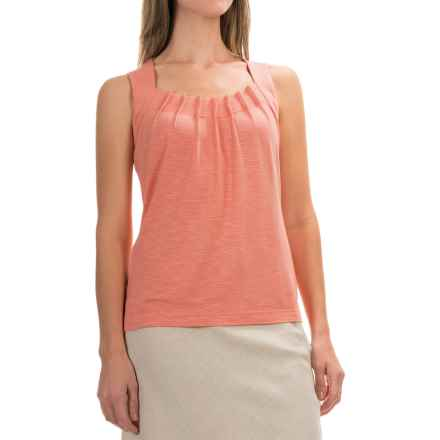 Royal Robbins Noe Pleated Tank Top - UPF 25+, Micromodal® (For Women) in Mai Tai - Closeouts