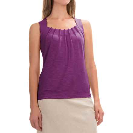 Royal Robbins Noe Pleated Tank Top - UPF 25+, Micromodal® (For Women) in Pansy Purple - Closeouts