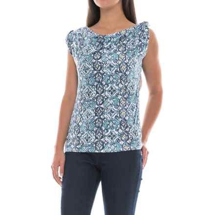 Royal Robbins Noe Sevilla Shirt - Tabbed Short Sleeve (For Women) in Reservoir - Closeouts