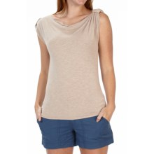 Royal Robbins Noe Shirt - Button-Tab Shoulders, Cowl Neck, Sleeveless (For Women) in Dark Sandstone - Closeouts