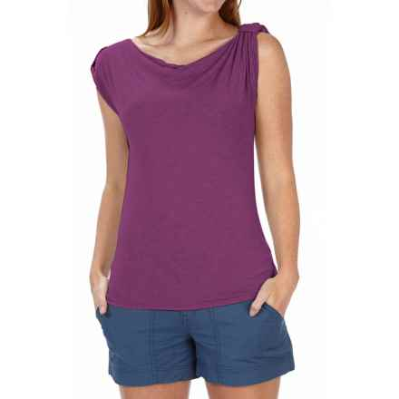 Royal Robbins Noe Shirt - Button-Tab Shoulders, Cowl Neck, Sleeveless (For Women) in Pansy Purple - Closeouts