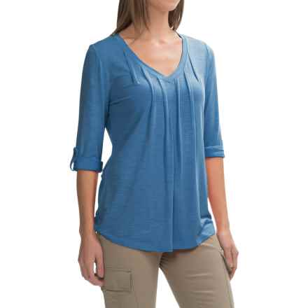 Royal Robbins Noe V-Neck Shirt - UPF 25+, 3/4 Sleeve (For Women) in Dark Lapis - Closeouts