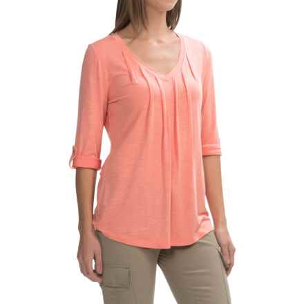 Royal Robbins Noe V-Neck Shirt - UPF 25+, 3/4 Sleeve (For Women) in Mai Tai - Closeouts