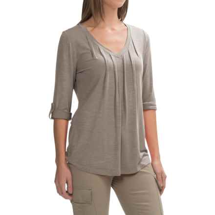 Royal Robbins Noe V-Neck Shirt - UPF 25+, 3/4 Sleeve (For Women) in Taupe - Closeouts