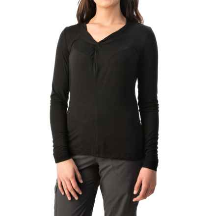 Royal Robbins Noe Vee Shirt - Long Sleeve (For Women) in Jet Black - Closeouts