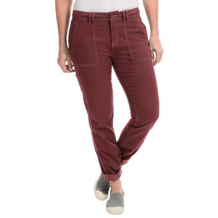 Royal Robbins Nubuck Twill Pants - UPF 50+ (For Women) in Bordeaux - Closeouts