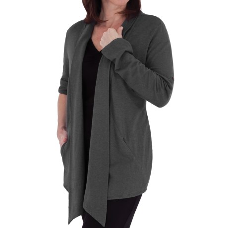 Royal Robbins Nuevo Summer Cardigan Sweater - UPF 30, Hemp-Organic Cotton (For Women) in Charcoal