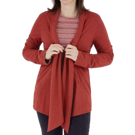 Royal Robbins Nuevo Summer Cardigan Sweater - UPF 30, Hemp-Organic Cotton (For Women) in Tomato