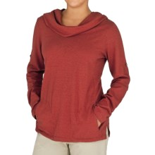 Royal Robbins Nuevo Summer Hoodie Shirt - Hemp-Organic Cotton, UPF 30+, Long Sleeve (For Women) in Tomato - Closeouts