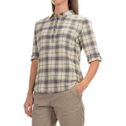 Royal Robbins Oasis Plaid Pullover Shirt - 3/4 Sleeve (For Women) in Lightt Khaki - Closeouts