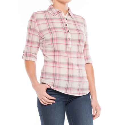 Royal Robbins Oasis Plaid Shirt - Long Sleeve (For Women) in Creme - Closeouts