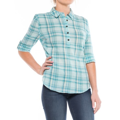 Royal Robbins Oasis Plaid Shirt - Long Sleeve (For Women) in Rainshower