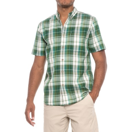 Royal Robbins Olly Oxford Plaid Shirt - UPF 50+, Short Sleeve (For Men) in Ivy