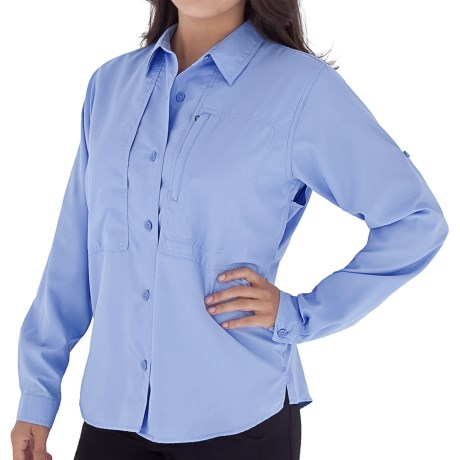 Royal Robbins Original Expedition Shirt - UPF 50+, Long Sleeve (For Women) in Optic Blue