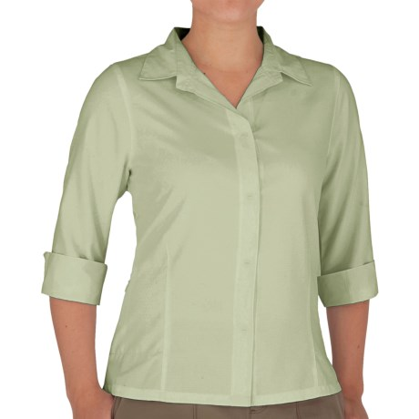Royal Robbins Original Expedition Shirt - UPF 50+, Wrinkle Resistant, 3/4 Sleeve (For Women) in Algae