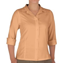 Royal Robbins Original Expedition Shirt - UPF 50+, Wrinkle Resistant, 3/4 Sleeve (For Women) in Cantaloupe - Closeouts