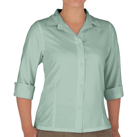 Royal Robbins Original Expedition Shirt - UPF 50+, Wrinkle Resistant, 3/4 Sleeve (For Women) in Seafoam