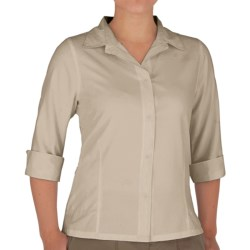 Royal Robbins Original Expedition Shirt - UPF 50+, Wrinkle Resistant, 3/4 Sleeve (For Women) in Soapstone