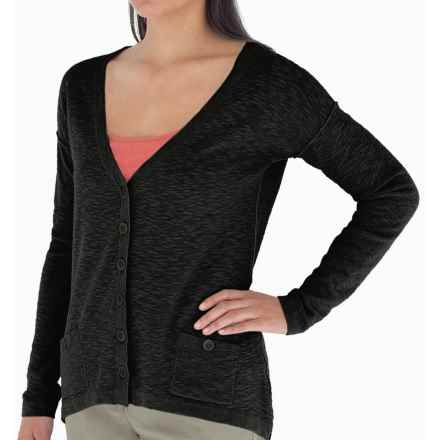 Royal Robbins Pacific Heights Cardigan Sweater - Cotton-Linen (For Women) in Jet Black - Closeouts
