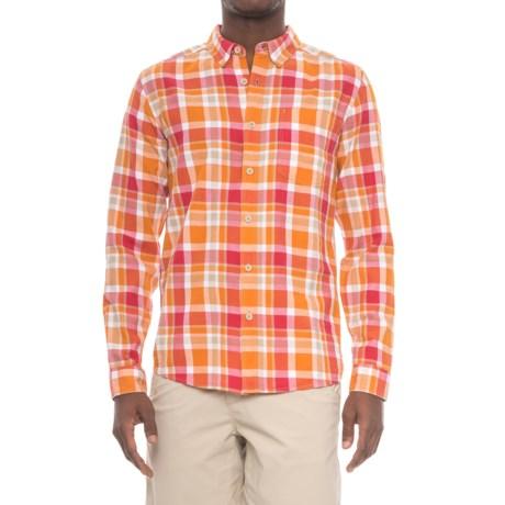 Royal Robbins Painted Canyon Plaid Shirt - Long Sleeve (For Men) in Marmalade