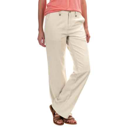 Royal Robbins Panorama Pants - Linen Blend (For Women) in Creme - Closeouts