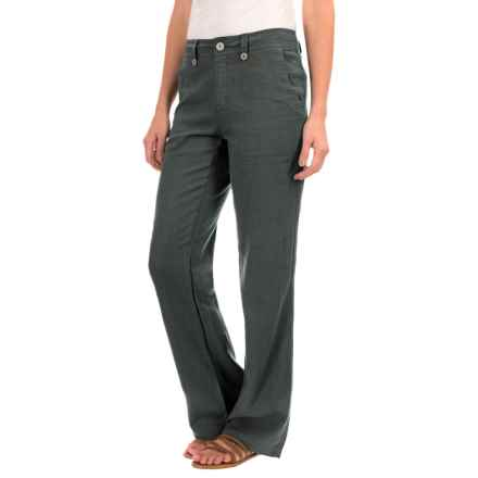 Royal Robbins Panorama Pants - Linen Blend (For Women) in Obsidian - Closeouts