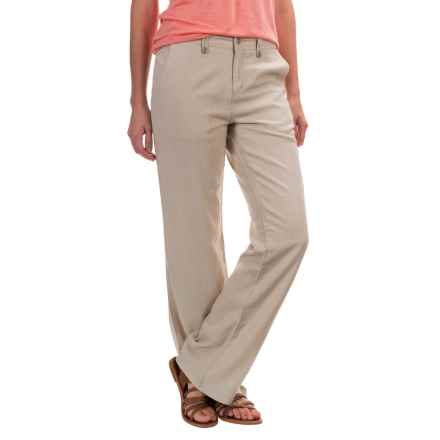 Royal Robbins Panorama Pants - Linen Blend (For Women) in Soapstone - Closeouts