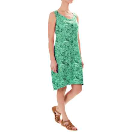 Royal Robbins Panorama Printed Dress - Sleeveless (For Women) in Spearmint - Closeouts