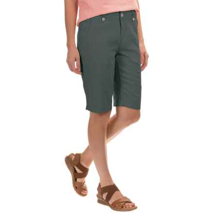 Royal Robbins Panorama Shorts - Linen-Rayon (For Women) in Obsidian - Closeouts