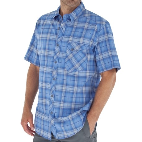 Royal Robbins Paragon Plaid Shirt - Short Sleeve (For Men) in Marine