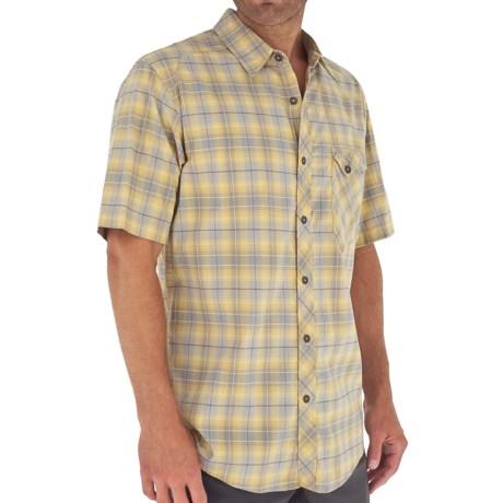 Royal Robbins Paragon Plaid Shirt - Short Sleeve (For Men) in Wheat