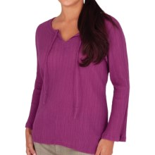 Royal Robbins Peasant Crinkle Dobby Shirt - 3/4 Sleeve (For Women) in Berry - Closeouts