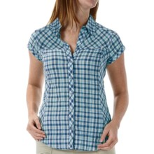 Royal Robbins Peasant Plaid Shirt - Short Sleeve (For Women) in Deep Sea - Closeouts