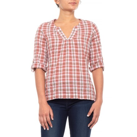 f78873f736df Royal Robbins Peasant Plaid Shirt - Short Sleeve (For Women) in Rosehip -  Closeouts