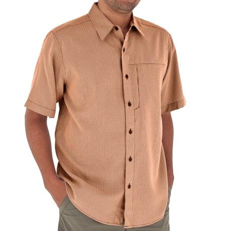 Royal Robbins Pecos Plaid Shirt - Short Sleeve (For Men) in Arizona Orange