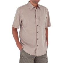 Royal Robbins Pecos Plaid Shirt - Short Sleeve (For Men) in Santa Fe Clay - Closeouts
