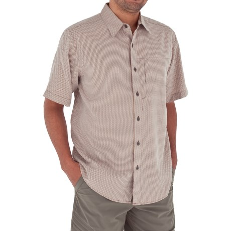 Royal Robbins Pecos Plaid Shirt - Short Sleeve (For Men) in Santa Fe Clay