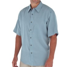 Royal Robbins Pecos Plaid Shirt - Short Sleeve (For Men) in Sky Blue - Closeouts