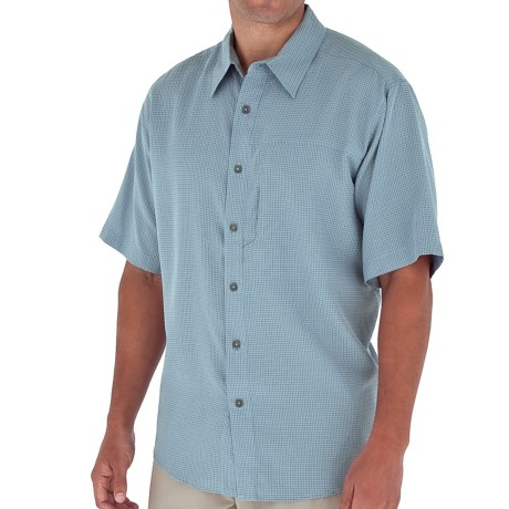 Royal Robbins Pecos Plaid Shirt - Short Sleeve (For Men) in Sky Blue